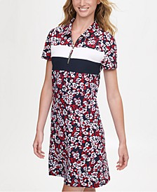 Floral-Print Polo Dress, Created for Macy's