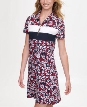 Tommy Hilfiger FLORAL-PRINT POLO DRESS, CREATED FOR MACY'S