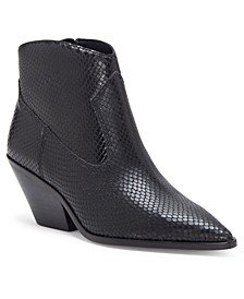 Women's Jemeila Snake-Embossed Booties