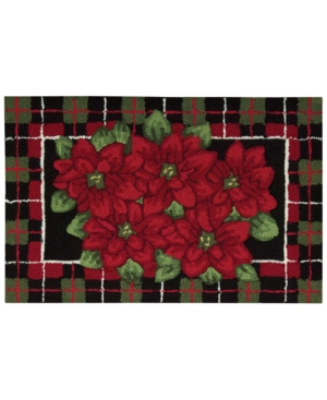 Nourison Rugs Holiday Poinsettia 20 x 32 Accent Rug Bedding