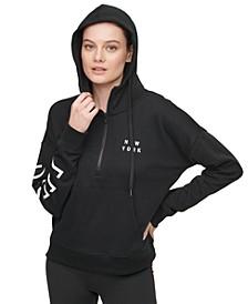 Sport Cotton Logo Half-Zip Hoodie