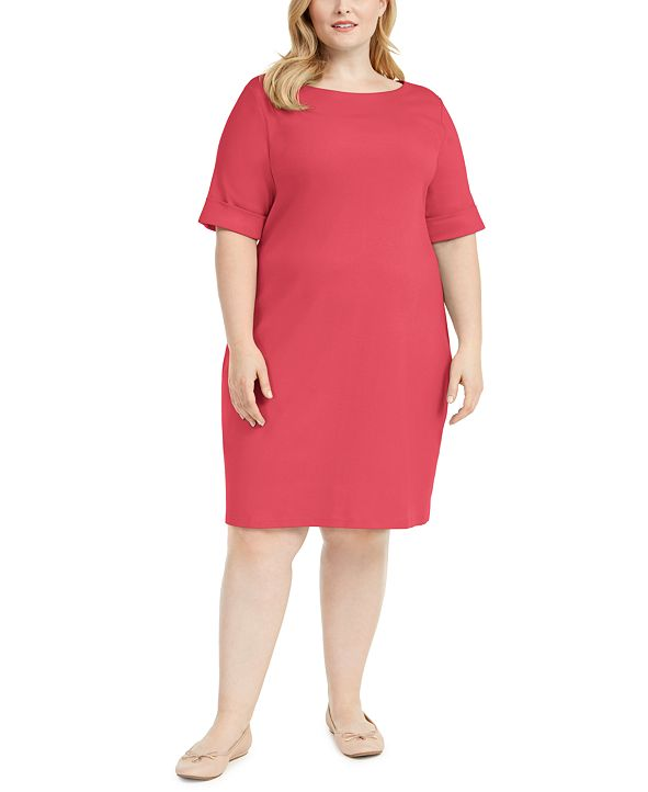 Karen Scott Plus Size Shift Dress, Created for Macy's