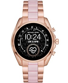 Access Gen 5 Bradshaw Rose Gold-Tone Stainless Steel & Blush Acetate Bracelet Touchscreen Smart Watch 44mm