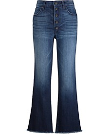 Button-Fly Flare Jeans