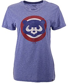 Chicago Cubs Women's Throwback Match Tri-blend Hero T-Shirt