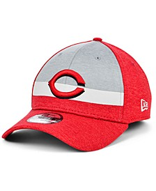 Cincinnati Reds Youth Striped Shadow Tech 39THIRTY Cap