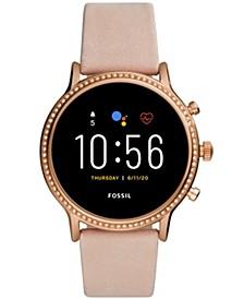 Tech Gen 5 Julianna HR Nude Leather Strap Smart Watch 44mm, Powered by Wear OS by Google