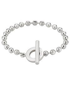 Boule Link Toggle Bracelet in Sterling Silver