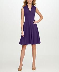 Star-Neck A-Line Dress