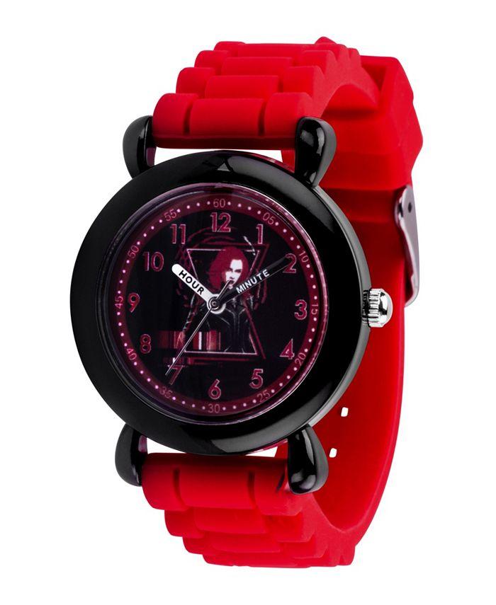 ewatchfactory - Marvel Black Widow Girls' Black Plastic Watch 32mm