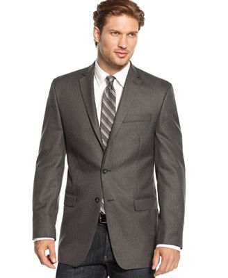 Calvin Klein Slim-Fit Herringbone Sport Coat - Blazers & Sport