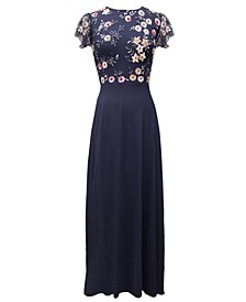 Floral-Top Gown