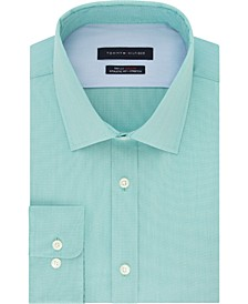Men's Flex Collar with Cooling Fabric Athletic Fit Non-Iron Performance Stretch Dress Shirt