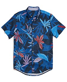 Men's Adaptive Custom Fit Tropics Short-Sleeve Shirt with Magnetic Buttons