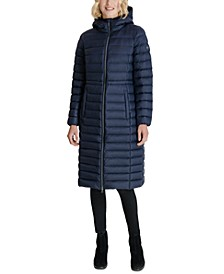 Hooded Down Maxi Packable Down Puffer Coat, Created for Macy's
