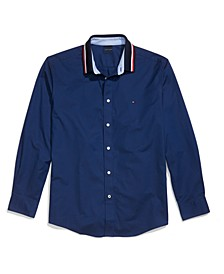 Men's Mayer Custom-Fit Stretch Contrast Collar Shirt with Magnetic Buttons and Velcro® Cuffs