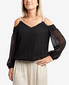 Cold-Shoulder Bubble Top
