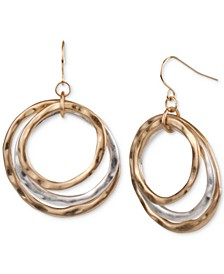 Two-Tone Triple-Hoop Drop Earrings, Created for Macy's