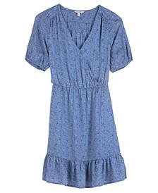 Dot-Print Mila Wrap Dress