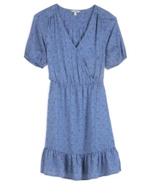 Lucky Brand DOT-PRINT MILA WRAP DRESS