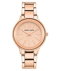 Women's Rose Gold-Tone Bracelet Watch 37mm