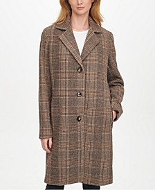 Petite Plaid Walker Coat, Created for Macy's
