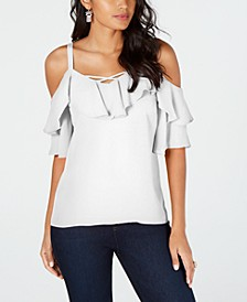 Ruffled Cold-Shoulder Top, Created for Macy's