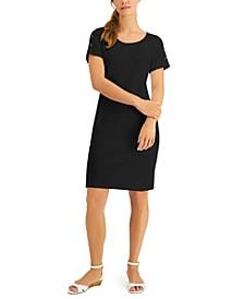Plus Size Cotton Button-Shoulder Dress, Created for Macy's
