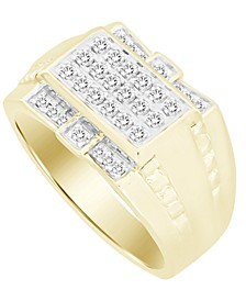 Men's Diamond (1/2 ct. t.w.) Ring in 10K Yellow Gold
