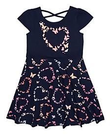 Toddler Girls Block Heart Dress