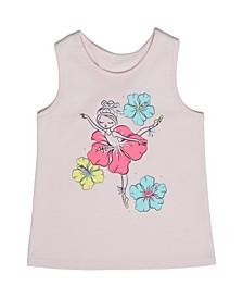 Little Girls Floral Tank Top