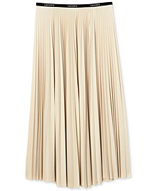 Women's Classic Midi Pleated A-Line Skirt