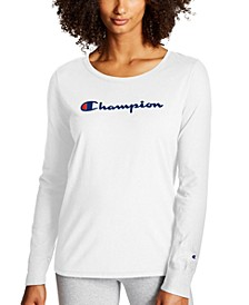 Plus Size Long-Sleeve Logo T-Shirt