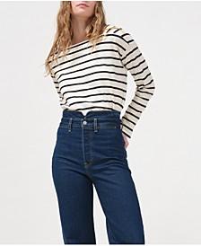 Striped Jane Boat-Neck Cotton Sailor Top