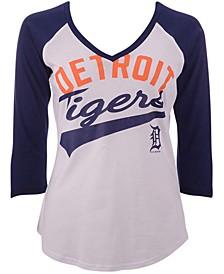 G-III Sports Women's Detroit Tigers Its A Game Raglan T-Shirt