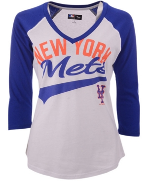 G-iii Sports Women's New York Mets Its A Game Raglan T-Shirt