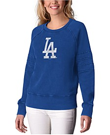 Touch Women's Alyssa Milano Los Angeles Dodgers Bases Loaded Scoop Neck Top
