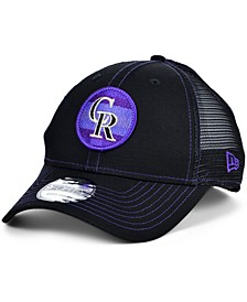 Colorado Rockies Logo Fill Trucker 9FORTY Cap
