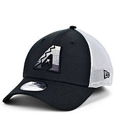 Arizona Diamondbacks Black White Gradient Trucker 39THIRTY Cap
