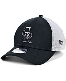 Men's Colorado Rockies Black White Gradient Trucker 39THIRTY Cap