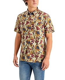Men's Tapestry Floral Short Sleeve Shirt, Created for Macy's