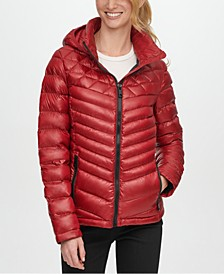 Shine Hooded Packable Down Puffer Coat, Created for Macy's