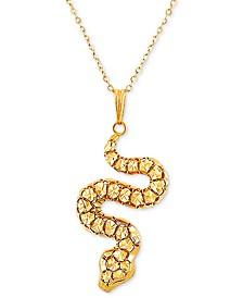 "EFFY® Snake 18"" Pendant Necklace in 14k Gold"