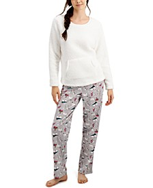 Matching Women's Polar Bears Family Pajama Set, Created for Macy's