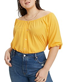 Trendy Plus Size Gloria Shirred Blouse