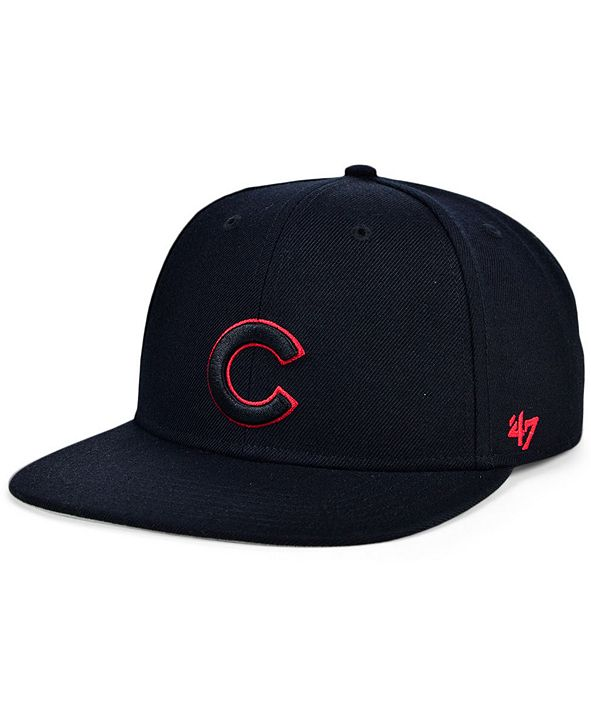 '47 Brand Chicago Cubs Bright Red Shot Snapback Cap