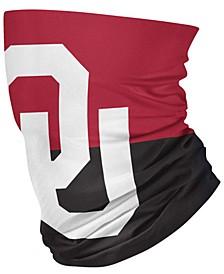 Oklahoma Sooners Colorblock Big Logo Gaiter Face Mask Scarf