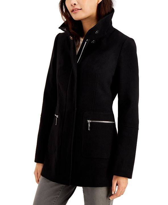 Maralyn & Me Juniors' Stand-Collar Coat, Created for Macy's