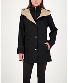 Bibbed Hooded Raincoat