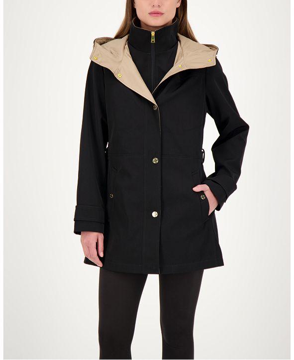 Jones New York Bibbed Hooded Raincoat